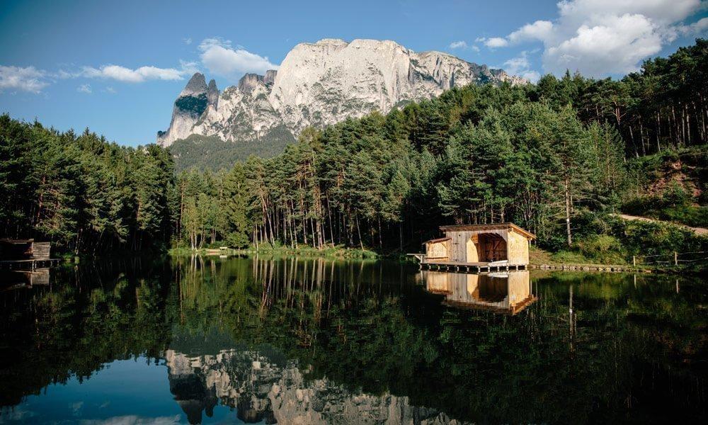 Urlaub auf dem Bauernhof in Südtirol mit Badesee